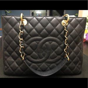 Chanel GST Black Caviar GHW
